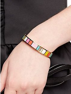 look on the bright side hinged idiom bangle by kate spade new york