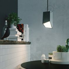 Concrete over counter pendant light. Comes with of high quality black fabric cable. Note: This item does not come with a ceiling rose. This pendant light a beautifully industrial, modern feature pendant for any home. Plug In Pendant Light, Pendant Lamp, Pendant Lighting, Ceramic Pendant, Ceiling Rose, White Ceiling, Lampe Led, Led Lamp, Canopy Lights