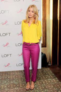 Loft Insider Lp Ticker Purple Pants Outfitpink