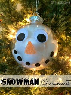 Snowman Christmas Ornament.