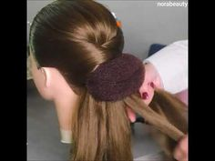 A beautiful hairstyle for occasions. Thank you for supporting the video - Coiffure Sites Party Hairstyles, Girl Hairstyles, Braided Hairstyles, Wedding Hairstyles, Medium Hair Styles, Long Hair Styles, Pinterest Hair, Great Hair, Hair Videos