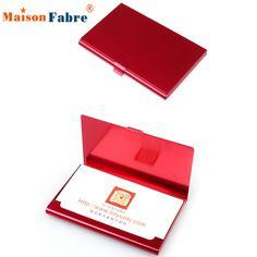 Brand New Aluminum Holder Metal Box Cover Credit Business Card Wallet For women men 2016 Gift 1pcs #jewelry, #women, #men, #hats, #watches, #belts