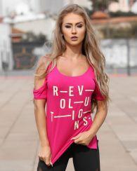 Camiseta Revolutions com Ombro de Fora - Donna Carioca - Moda fitness com  preço de fábrica 433a6984d72