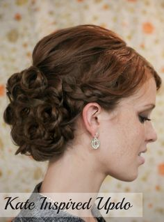 The Freckled Fox - a Hairstyle Blog: Holiday Hair Week - Tutorial #3: Kate Inspired Updo