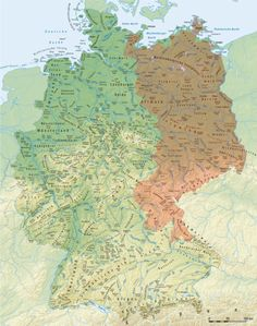 Compare this map of Slavic toponyms in East Germany with map of R1a
