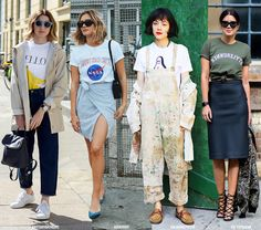 It's time to get our that printed or vintage T-shirt from your closet. And to wear it the 2016 way!       Photos via: 1 | brittanybathgate, adenorah, manrepeller, popsugar 2 | alwaysjudging 3 | via Jalouse Magazine, June 2016 SHARE:
