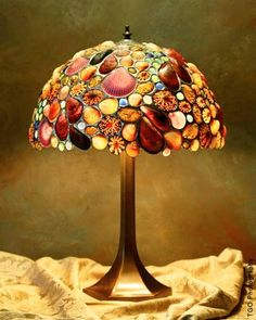 Omg how awesome i have 2 lamps i can do this to hm maybe tik tok too features stunning seashell lamp shades by desire gillingham aloadofball Choice Image