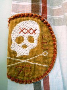 Marc Ecko Mens Shirt 3XL Red Brown Plaid Cut Sew Skull Poison Bottles Lng Sleeve #MarcEcko #ButtonFront