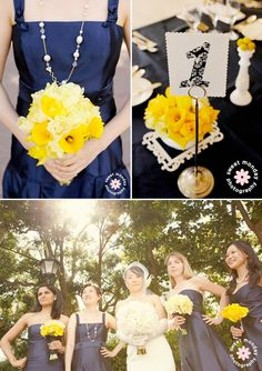 Navy Blue and Yellow Wedding {with calla lilies} con't . .. - Brenda's Wedding Blog - unique daily wedding blogs from Best Wedding Sites for brides & grooms