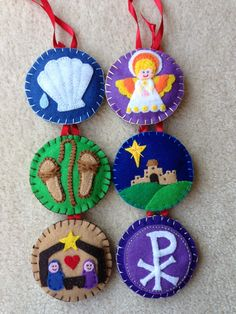 Jesse Tree felt ornaments - a good way to pass faith and the real meaning of Christmas along to children.