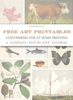 Free Art Printables: Customising For At Home Printing (a complete tutorial)
