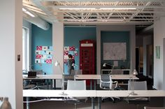 The open co-working space at HUB Raleigh.