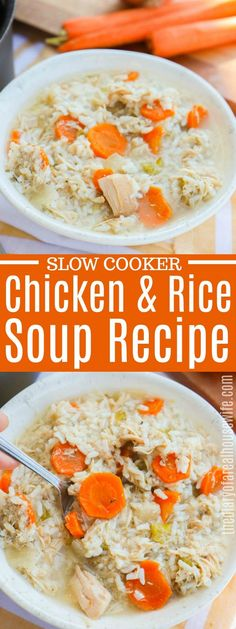This Crock-Pot Chicken and Rice Soup recipe is simply amazing! #soup #easyrecipe