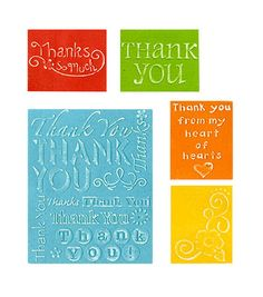 Sizzix Impressions Embossing Folders-Thank You at Joann.com