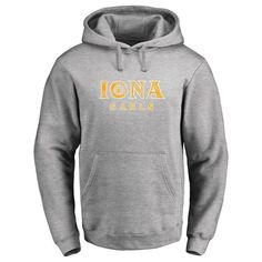 Iona College Gaels Classic Primary Logo Pullover Hoodie - Ash