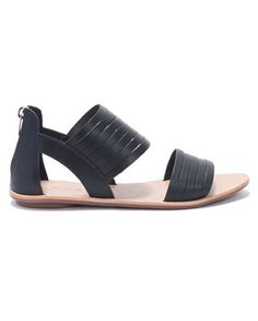 strappy plank sandals