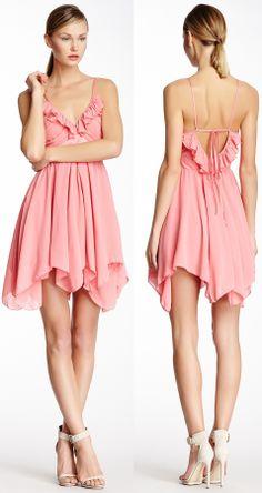 Ruffled pink dress