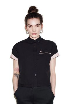 Fred Perry - Amy Winehouse Bowling Shirt Black