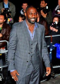 Idris Elba- enough said Idris Elba, Black Is Beautiful, Gorgeous Men, Beautiful People, Sharp Dressed Man, Well Dressed, Luther, Grown Man, Raining Men