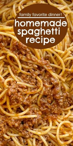 Spaghetti Beef Recipe, Ground Beef Spaghetti Sauce, Spaghetti Sauce Easy, Recipes With Spaghetti Noodles, Ground Beef Pasta, Creamy Spaghetti, Taco Spaghetti, Spaghetti Dinner, Baked Spaghetti