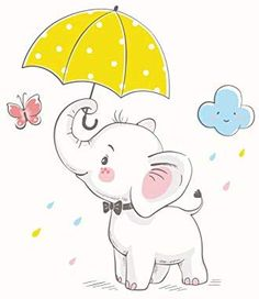 Find Cute Elephant Umbrella Cartoon Hand Drawn stock images in HD and millions of other royalty-free stock photos, illustrations and vectors in the Shutterstock collection. Baby Elephant Drawing, Baby Animal Drawings, Cartoon Elephant, Elephant Love, Elephant Art, Cute Drawings Of Animals, Cute Baby Drawings, Elephant Applique, Baby Elephants
