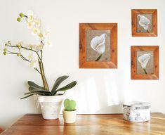 Peinture arum Lily sur toile de lin Création pour décoration d'intérieur à encadrer Art Textile, Illustrations, Motifs, Les Oeuvres, Planter Pots, Decoration, Textiles, Etsy, Aide