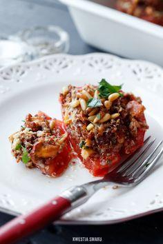 Pomidory zapiekane z farszem z kurkowym