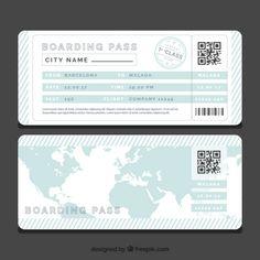 Boarding Pass Invitation Template Free Fresh Striped Boarding Pass Template with Blue World Map Vector Invitation Ticket, Boarding Pass Invitation, Invitations, Boarding Pass Template, Ticket Template, Passport Template, Printable Tickets, Ticket Design, Airline Tickets