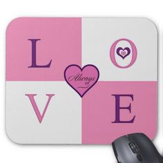 Alway Love Products mousepad - valentines day gifts love couple diy personalize for her for him girlfriend boyfriend