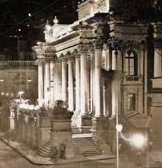 The Royal Opera House on Valletta's Kingsway is floodlit in the 1930s. Thanks to Ray Pisani for the pic