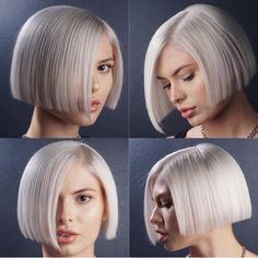 Gray Wigs for Women Lace Front Wigs Synthetic Ombre Color Short Bob Short Hair Cuts, Short Hair Styles, Mens Medium Length Hairstyles, Pelo Pixie, Grey Wig, Short Bob Haircuts, Great Hair, Lace Front Wigs, Lace Wigs