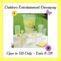 Outdoor Entertainment Giveaway ends 8/28