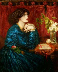 Dante Gabriel Rossetti (1828-1882), Jane Morris, the silk blue dress – 1868