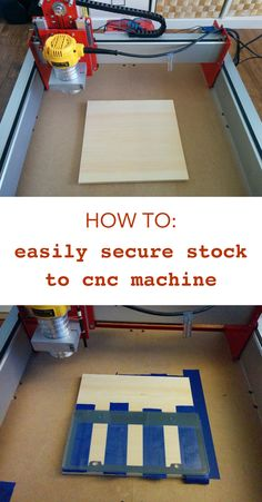 An easy way to secure stock to your cnc machine. No slipping or moving!