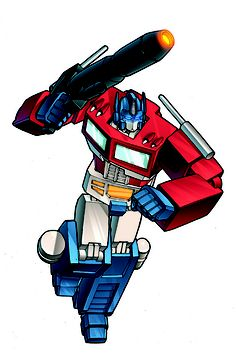 Optimus Prime image for party hats and invitation