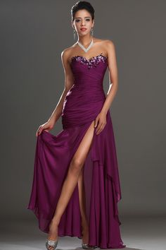 Flawless Prom Dresses Ruffled Bodice Sheath/Column Floor Length With Beads&Applique