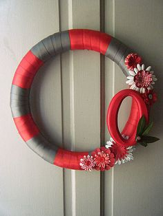 Ohio State Buckeyes Football Wreath by poppiesilove on Etsy, $43.00