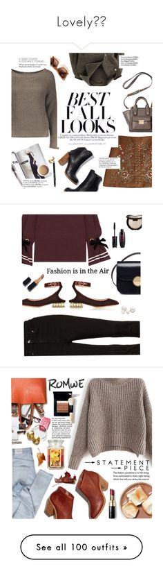 """Lovely🌸🎈"" by kristi-alexandrova ❤ liked on Polyvore featuring H&M, Haute Hippie, 3.1 Phillip Lim, Bobbi Brown Cosmetics, Mother of Pearl, Good American, Nicholas Kirkwood, Marni, Allurez and polyvoreeditorial"
