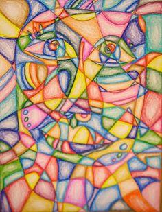Experiments in Art Education: Frank Big Bear Drawings