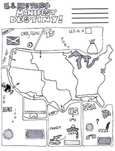 Cartoon Notes for Manifest Destiny: 10 Measures towards Draw in the Everyday living Yourself Will need By Heather Mathews Writer. 7th Grade Social Studies, Social Studies Classroom, Social Studies Resources, History Classroom, Teaching Resources, Teaching Ideas, 8th Grade History, Study History, Teaching Us History