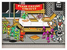 War & Pizza! Print for the iam8bit 'COWABUNGA! 30 Years of Teenage Mutant Ninja Turtles' gallery show in LA - opening this weekend! Detail HERE!