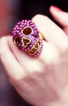 pictures of skull jewerly | Skull and pink bling | Jewelry