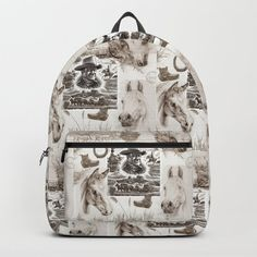 Country Western Backpack by #canisart. Worldwide shipping available at Society6.com. #backpack #bag #school #backtoschool #country #style #cowboy #western #southwestern #blackandwhite #horses #equine #equestrian #vintage #decoupage #design D Craft, One Size Fits All, Shoulder Straps, Westerns, Laptop, Handle, Construction, Backpacks, Unisex