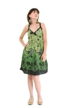 60fe5a2ee8bfa Stylish Young Woman in Green Summer Dress - Peel and Stick Wall Decal by  Wallmonkeys Price