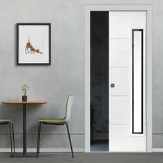 Single Pocket Dominion White sliding door system in three size widths with Etched Clear Glass. #jbkpocketdoor #whitepocketdoor #modeernpocketdoor