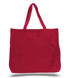 """This fairly large tote bag has a squared off bottom for support and stability and the heavy canvas and reinforced stress points keep your bag from ripping and make it last for years of usage. Use this bag for shopping, a family picnic or other purposes and events. This bag will come in handy no matter what event you got planned. Product Description: Heavy canvas with squared off bottom. Jumbo size Long web handles Reinforced at stress points. Size: 20""""W x 15""""H x 5""""D 20"""" Handles Imprint…"""