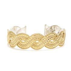 Anna Beck: Bracelets: Woven Skinny Cuff - Gold