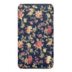 Elegant Vintage Floral Rose iPod Touch Case
