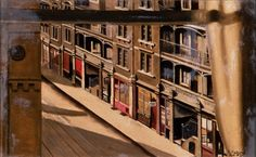 Sunday Morning, Farringdon Road Cecil Osborne Oil on canvas, x cm, Brighton and Hove Museums and Art Galleries. London Photos, London Art, East London, Southampton City, London History, Brighton And Hove, Through The Window, Art Uk, City Art