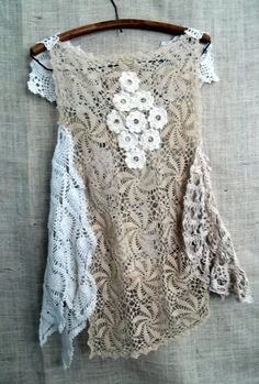fabulous use for all those vintage doilies!! make an airy tunic!